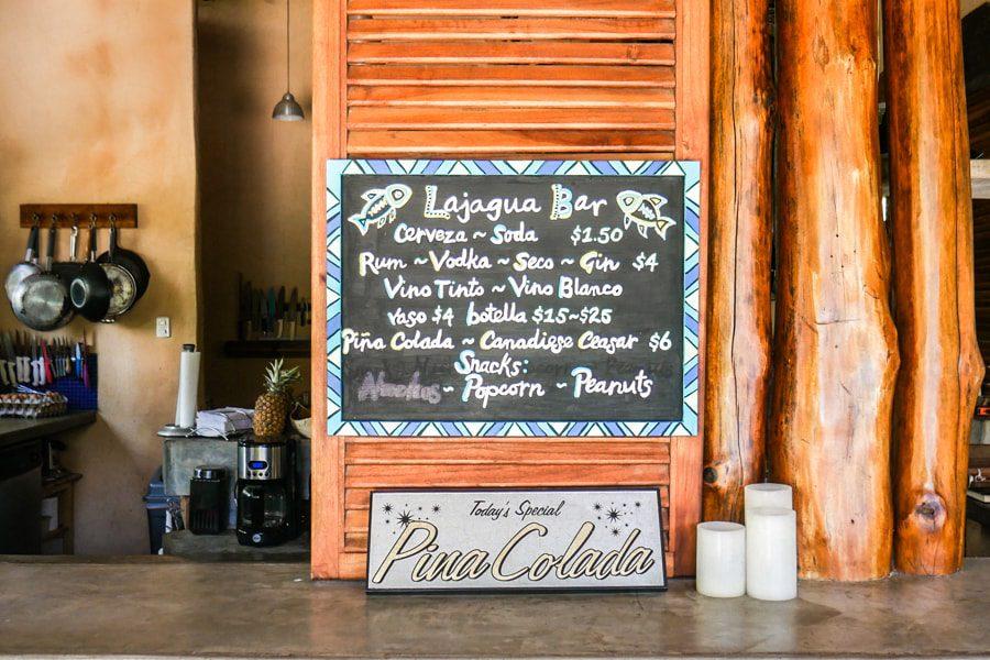 menu casa lajagua pedasi