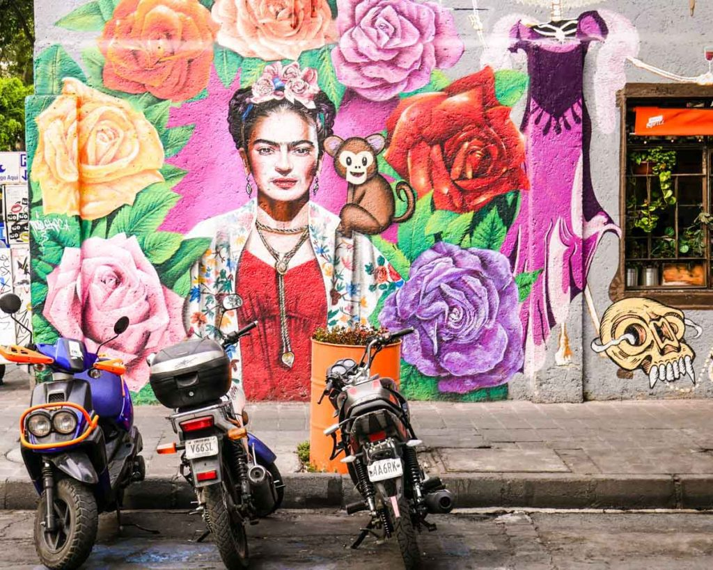 frida mural mexico city travel