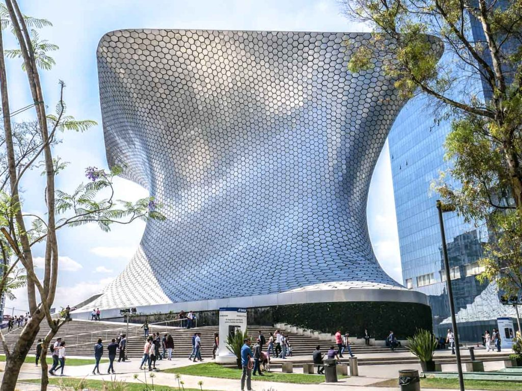 best places in mexico city to photo museo soumaya