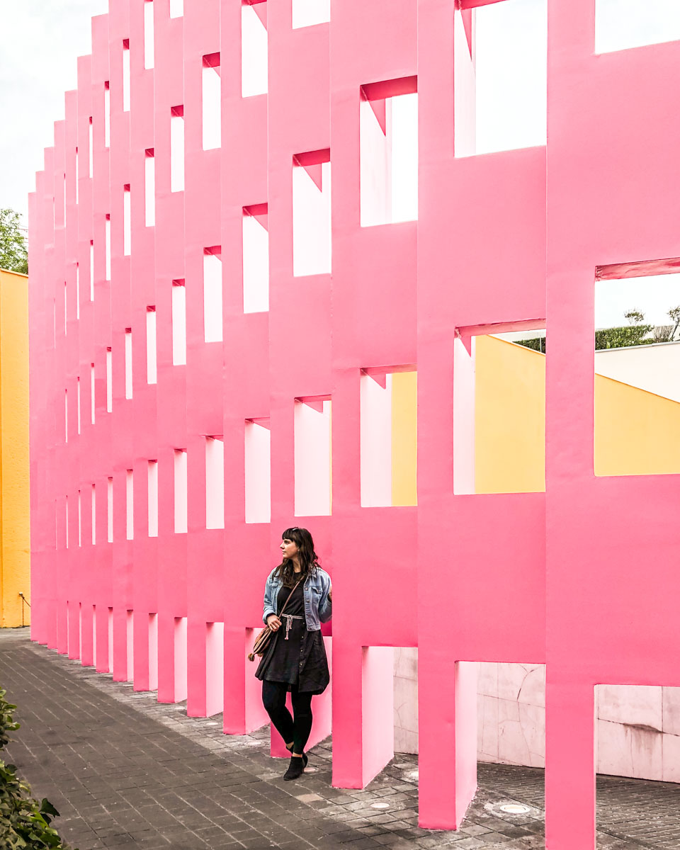 best mexico city instagram pink wall camino real
