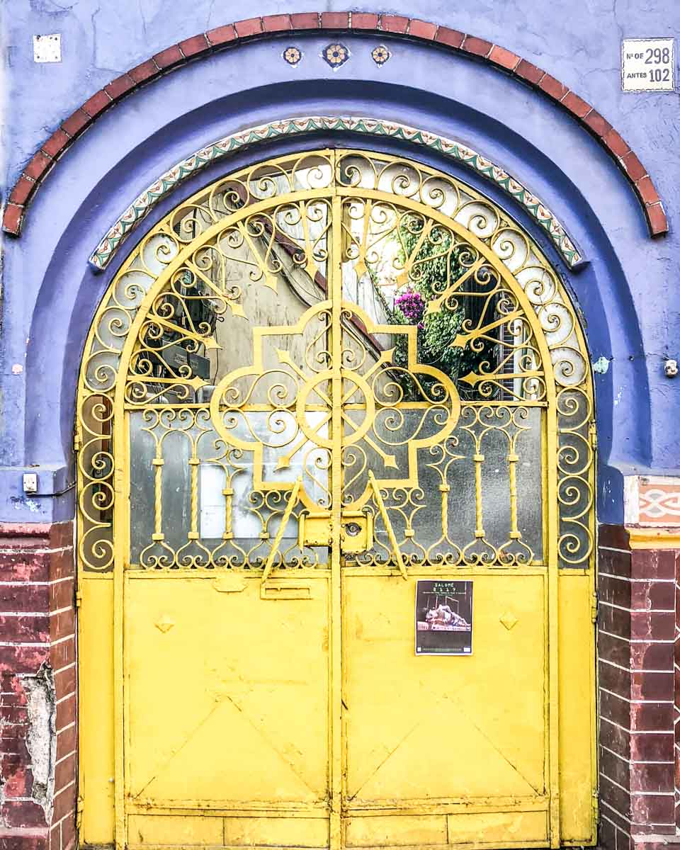 mexico city instagram colorful door coyoacan