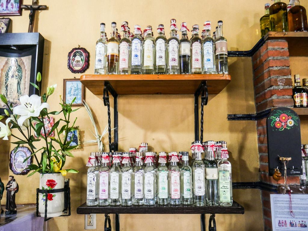 oaxaca mezcaleria guide mezcal bottles