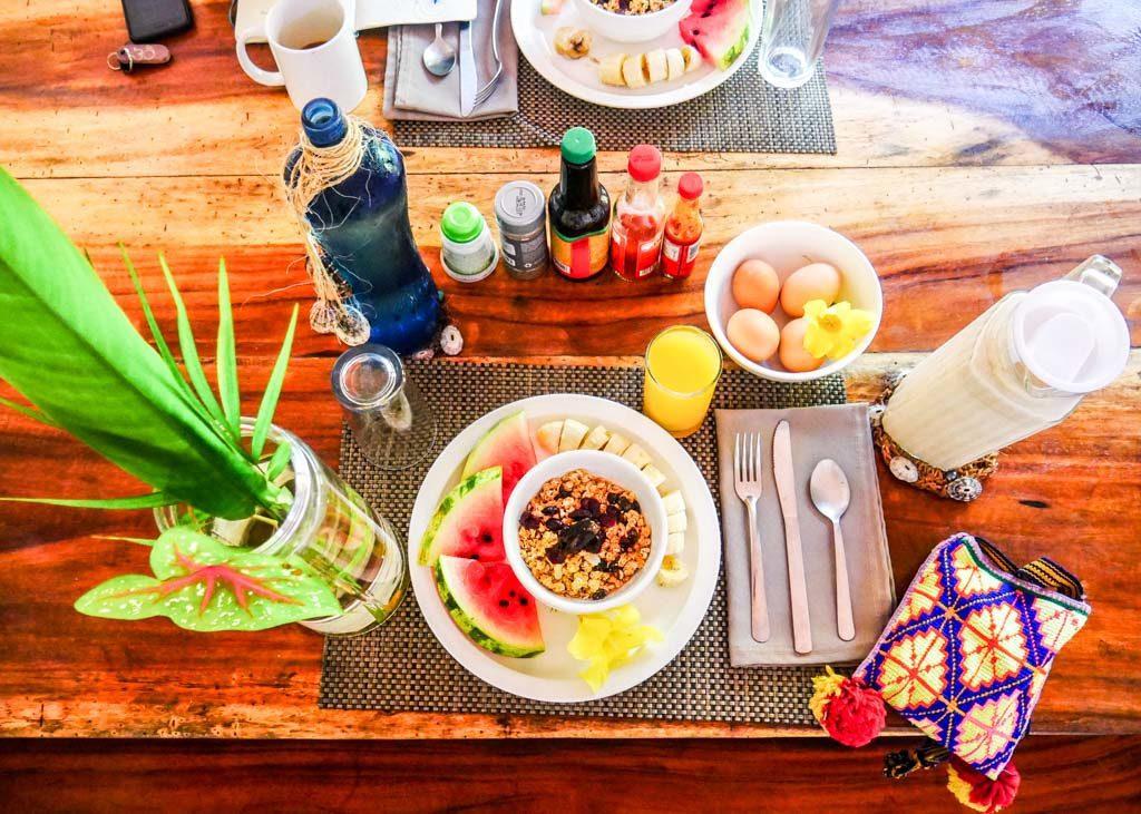 breakfast peace retreat costa rica