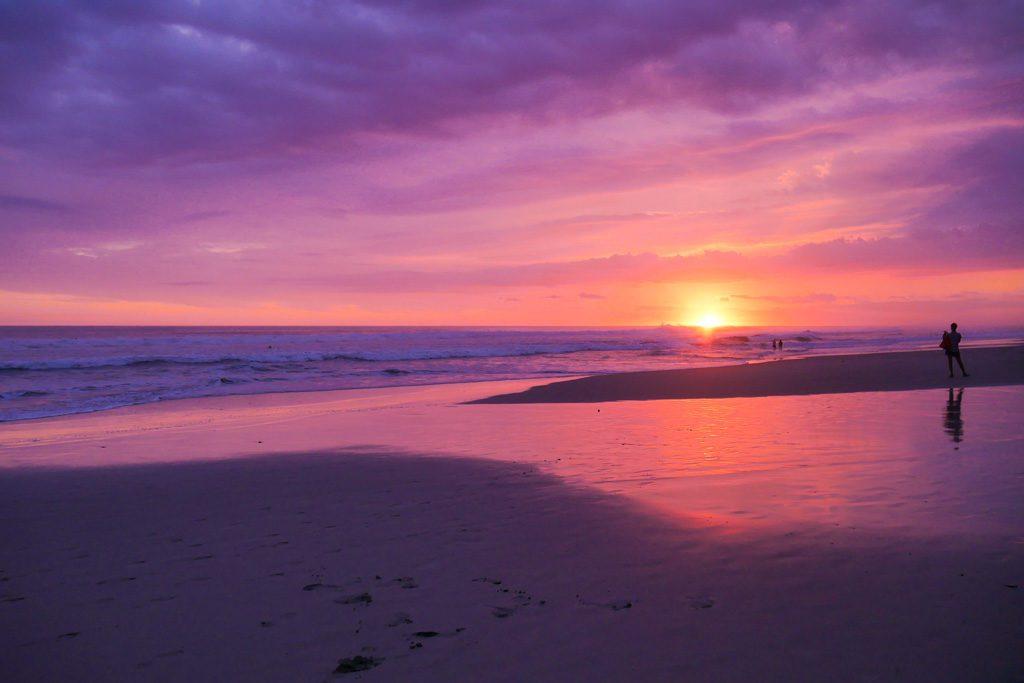 santa teresa beach sunset costa rica