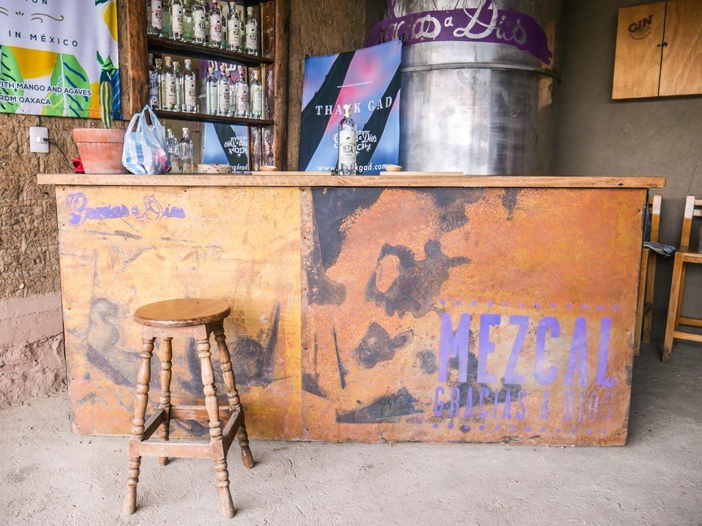 tasting room gracias a dios mezcal