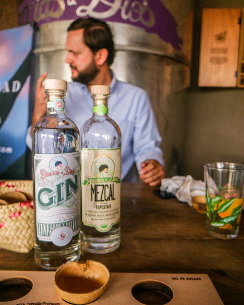 gin agave gracias a dios mezcal oaxaca