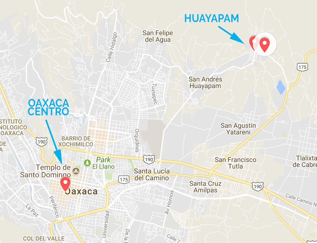 oaxaca tejate map full