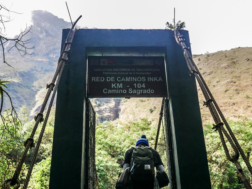 starting the short inca trail hike