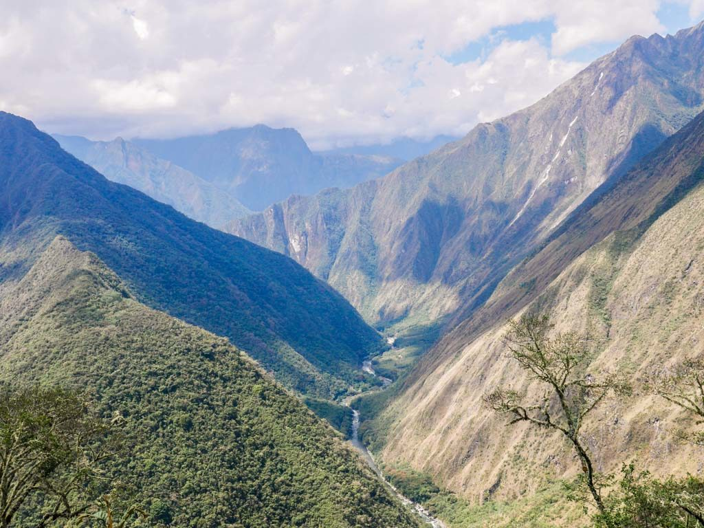 short inca trail hike views
