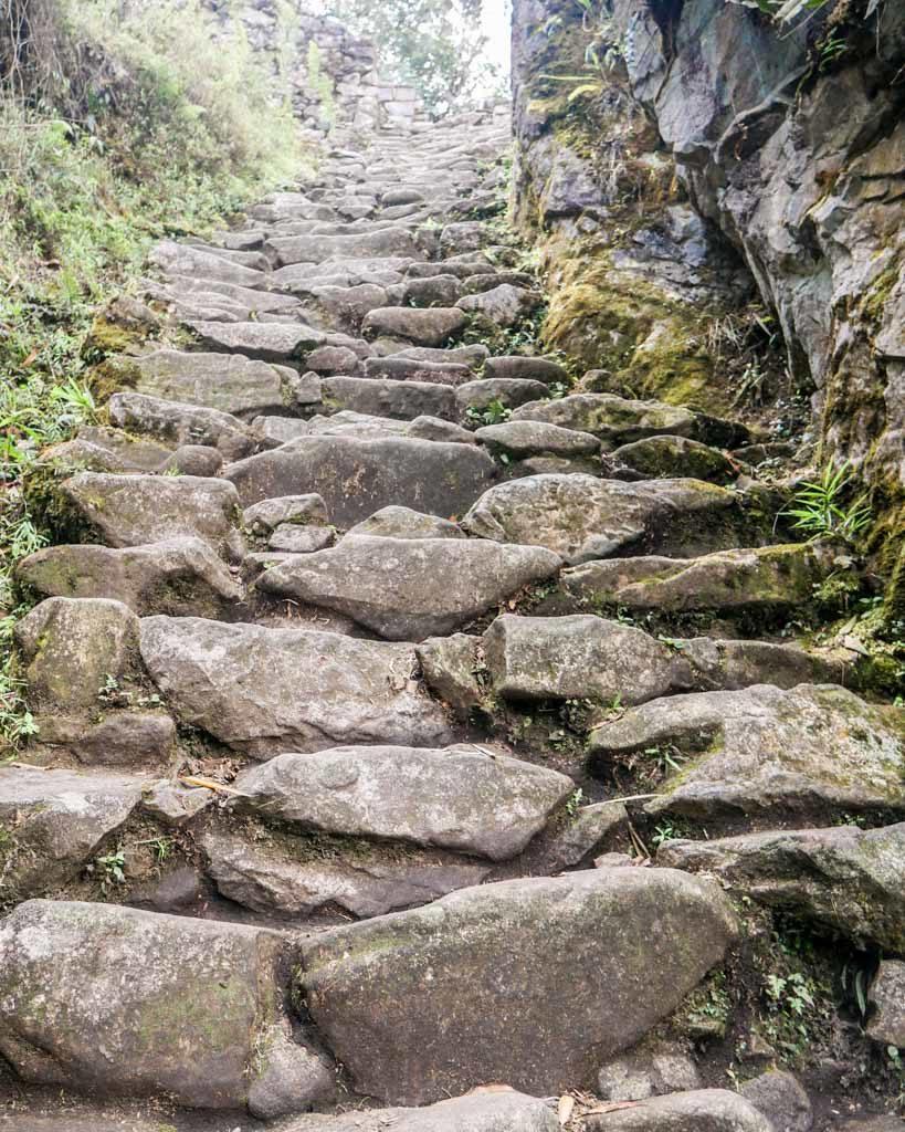 stairs short inca trail hike