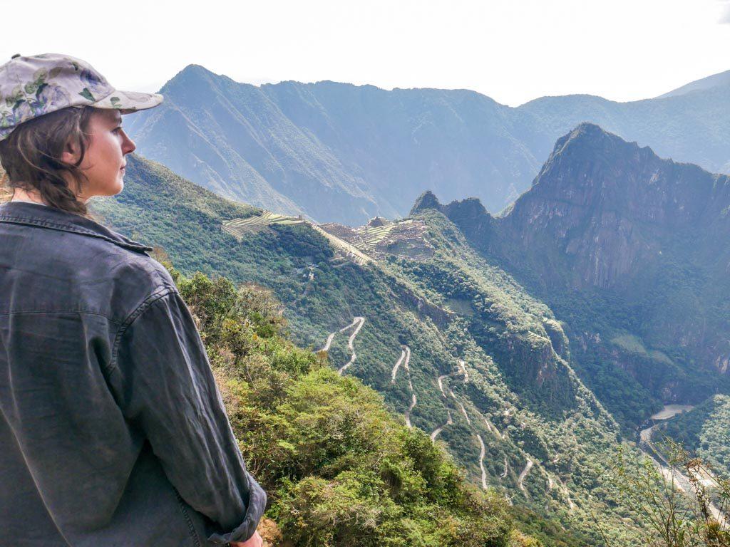 view machu picchu from sun gate