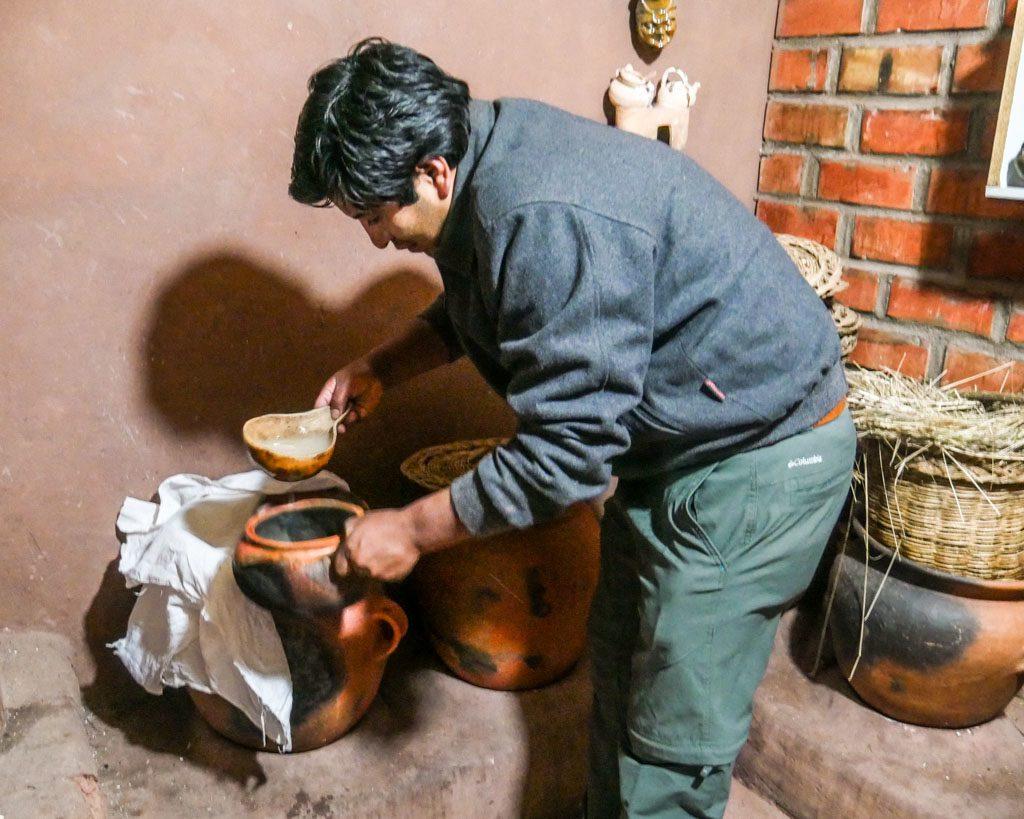 making fruitillada chicha
