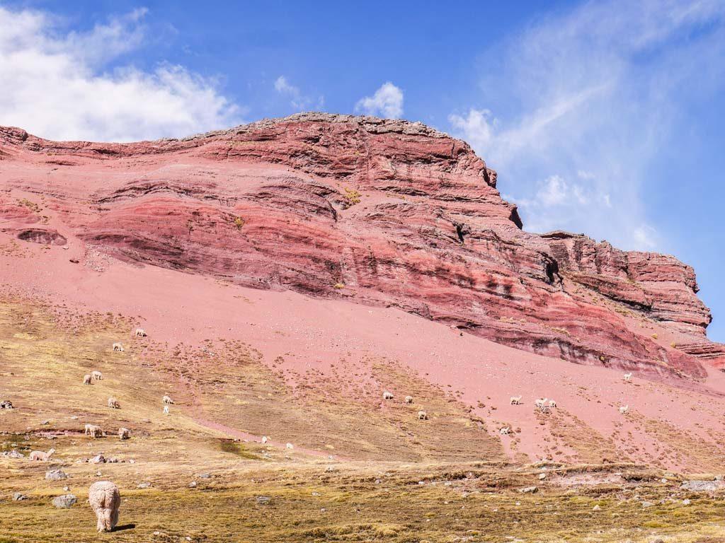 rainbow mountain scenery