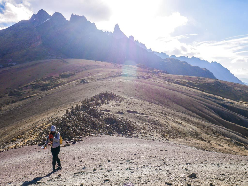 ausangate mountain range hike