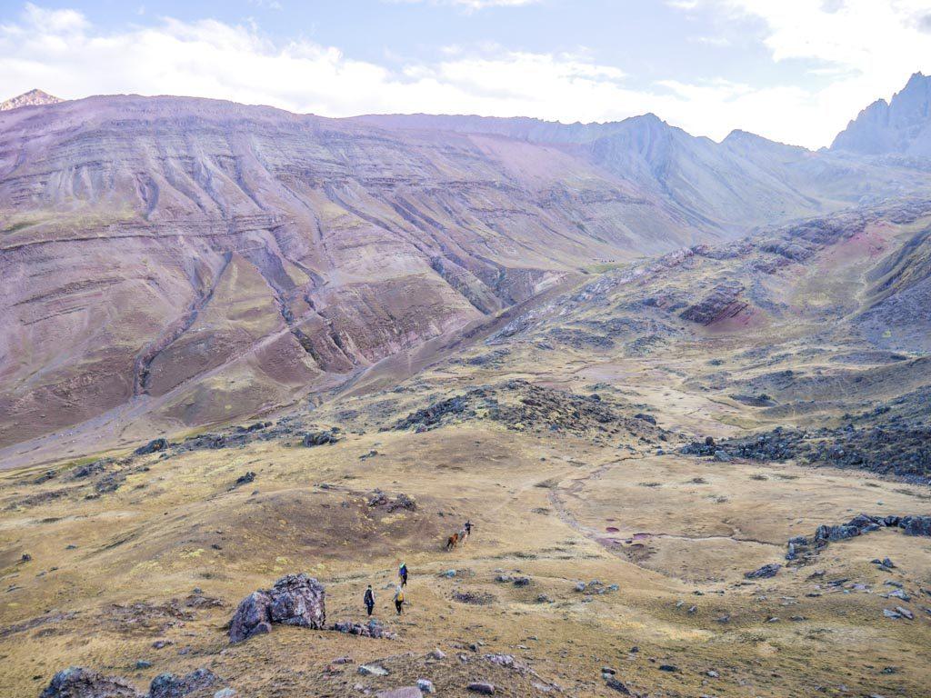 rainbow mountain trekking