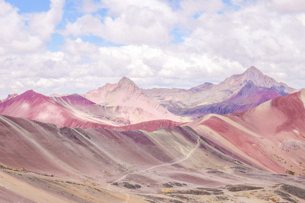 rainbow mountain scenery