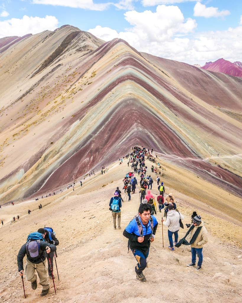 people at rainbow mountain