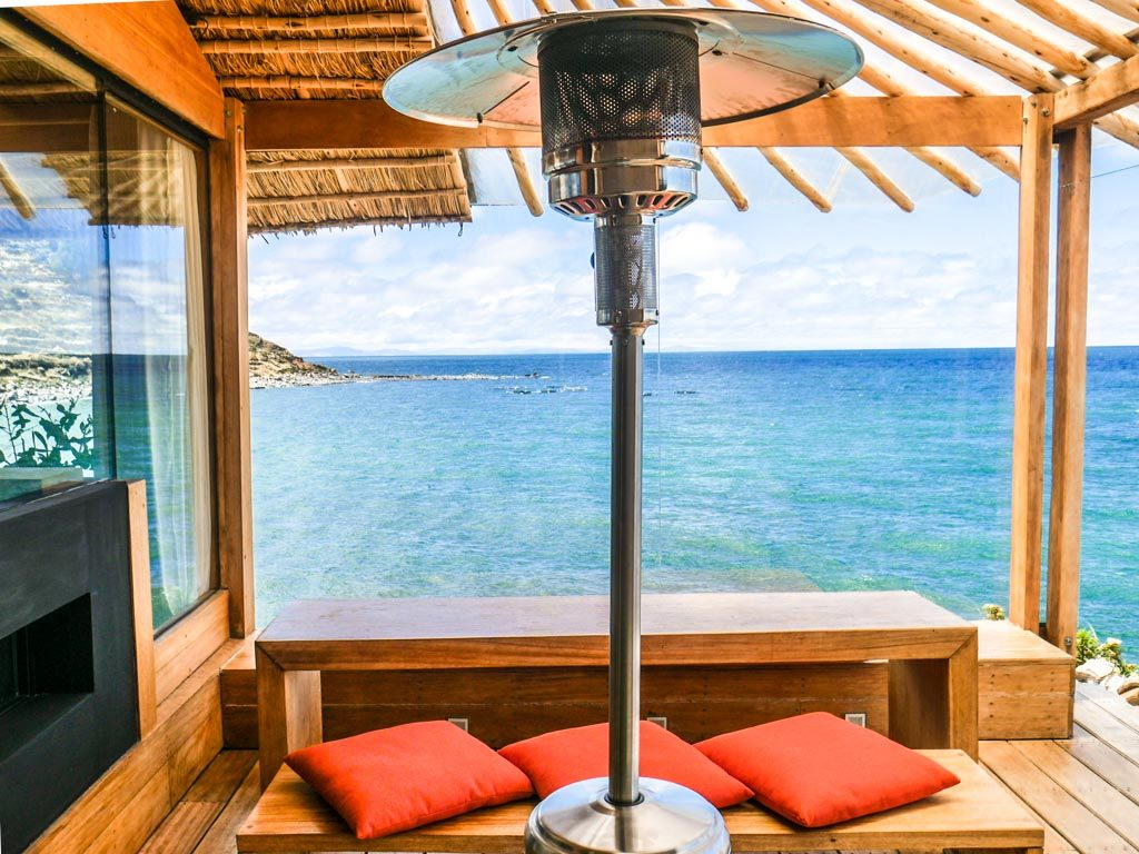 heat lamp lake titicaca hotel