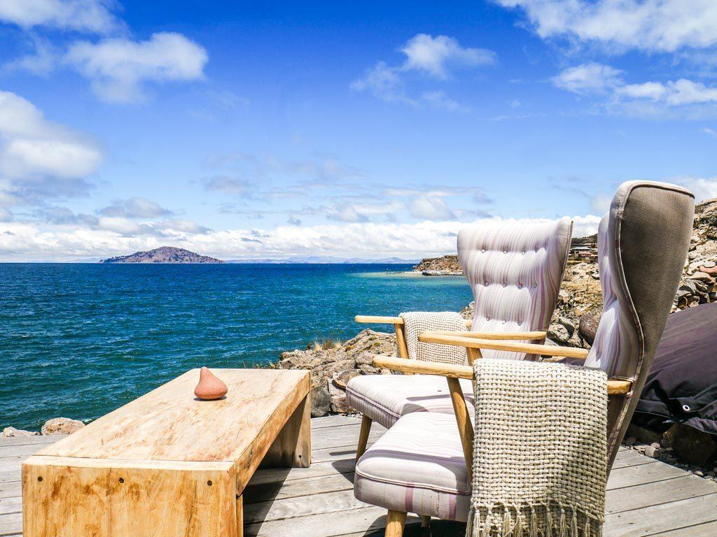 terrace hotel lake titicaca