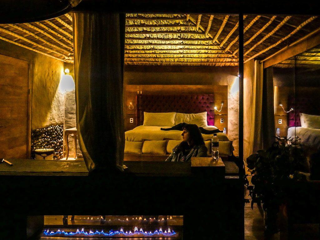 hotel lake titicaca fireplace