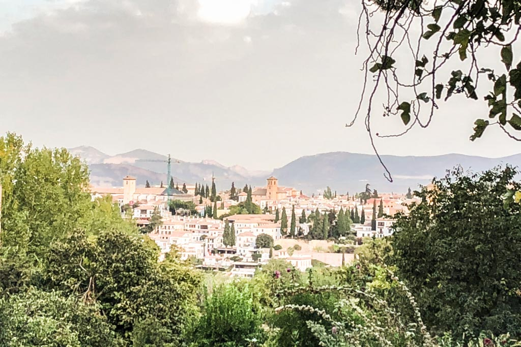 view of granada from the generalife alhambra