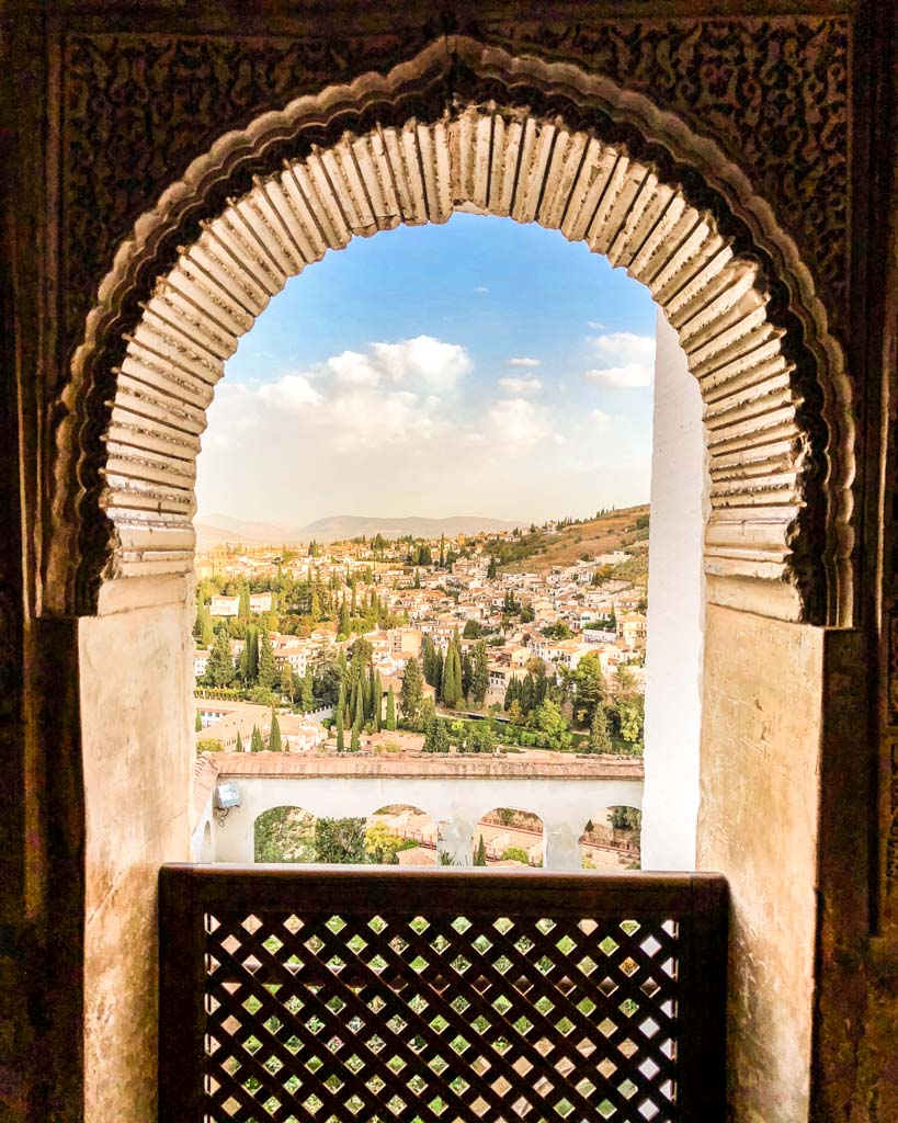 view of granada from the generalife gardens
