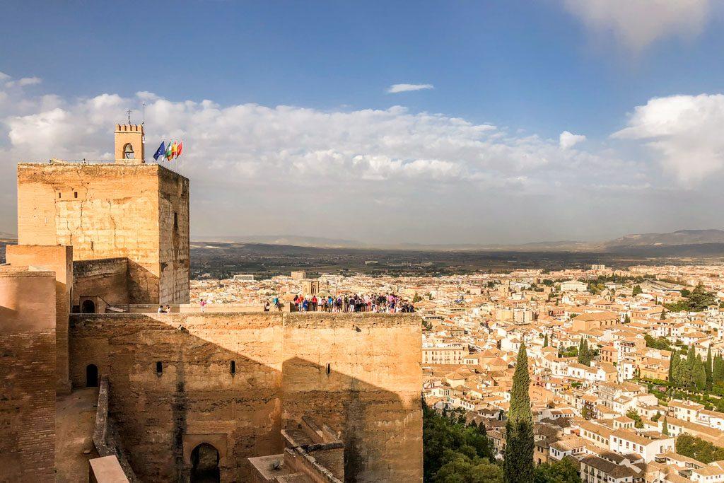 view of granada from the alhambra alcazaba