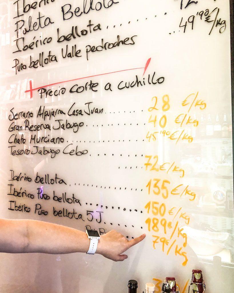 jamon iberico granada food tour