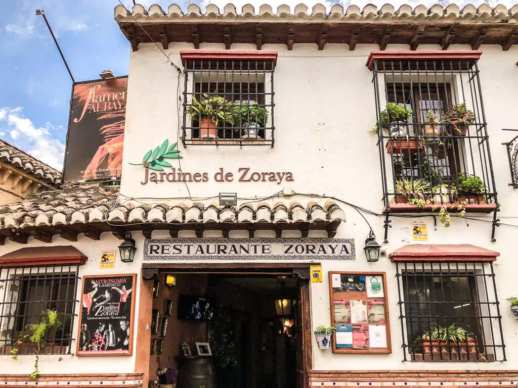 jardines de zoraya flamenco granada city guide