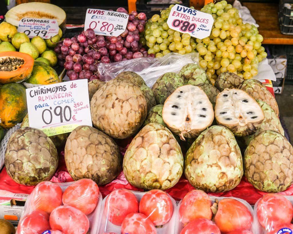 chirimoya fruit granada spain
