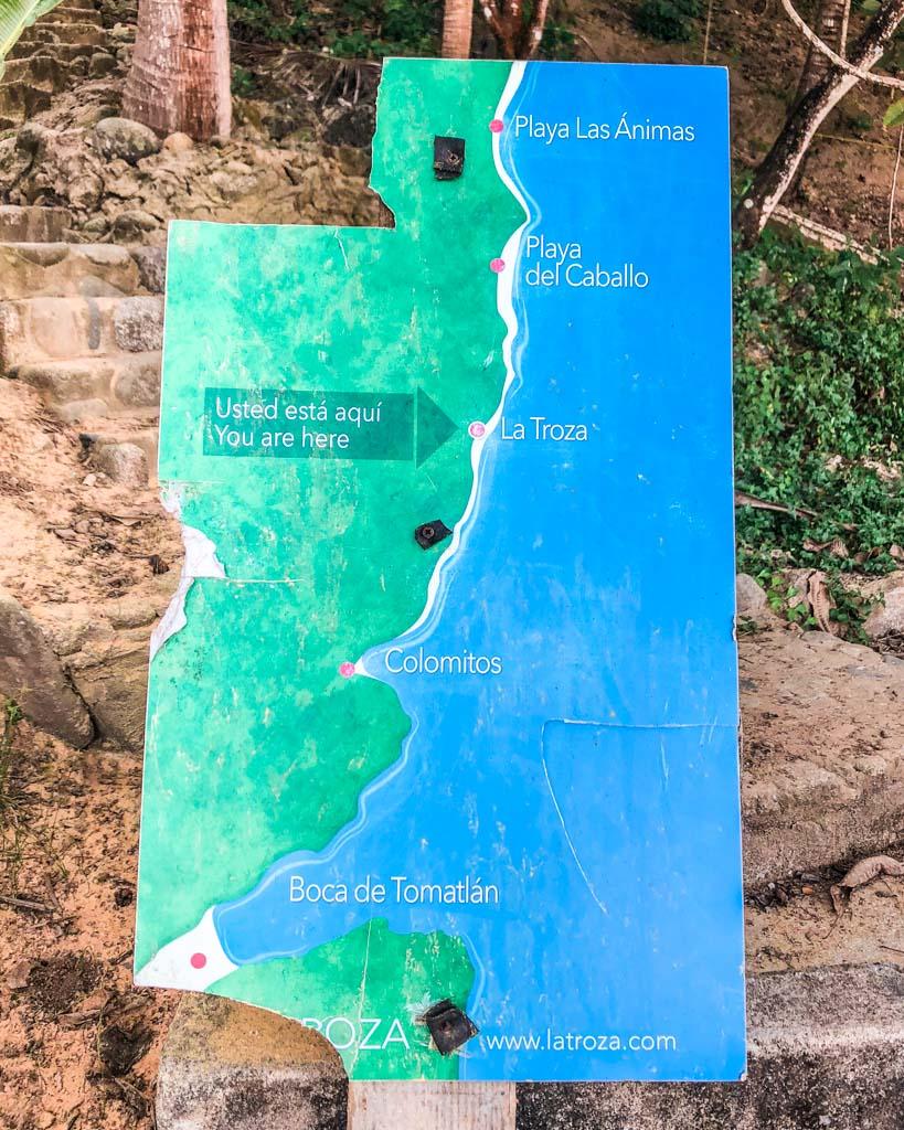 map of puerto vallarta beaches instagram