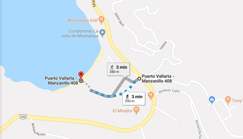 mismaloya puerto vallarta beaches map