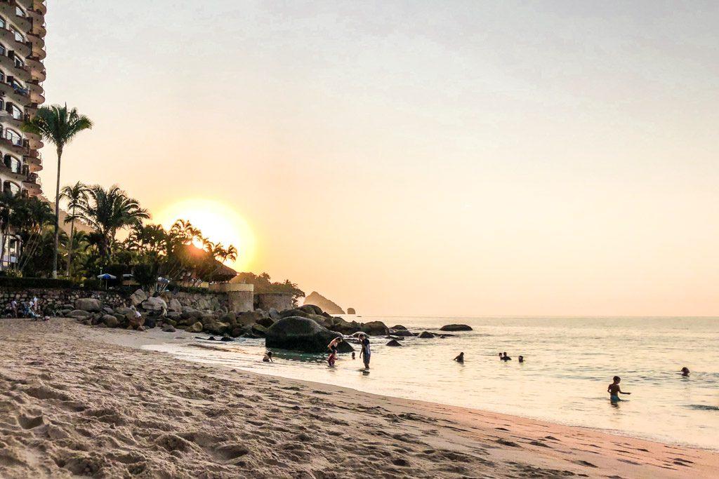 playa las gemelas sunset puerto vallarta beaches