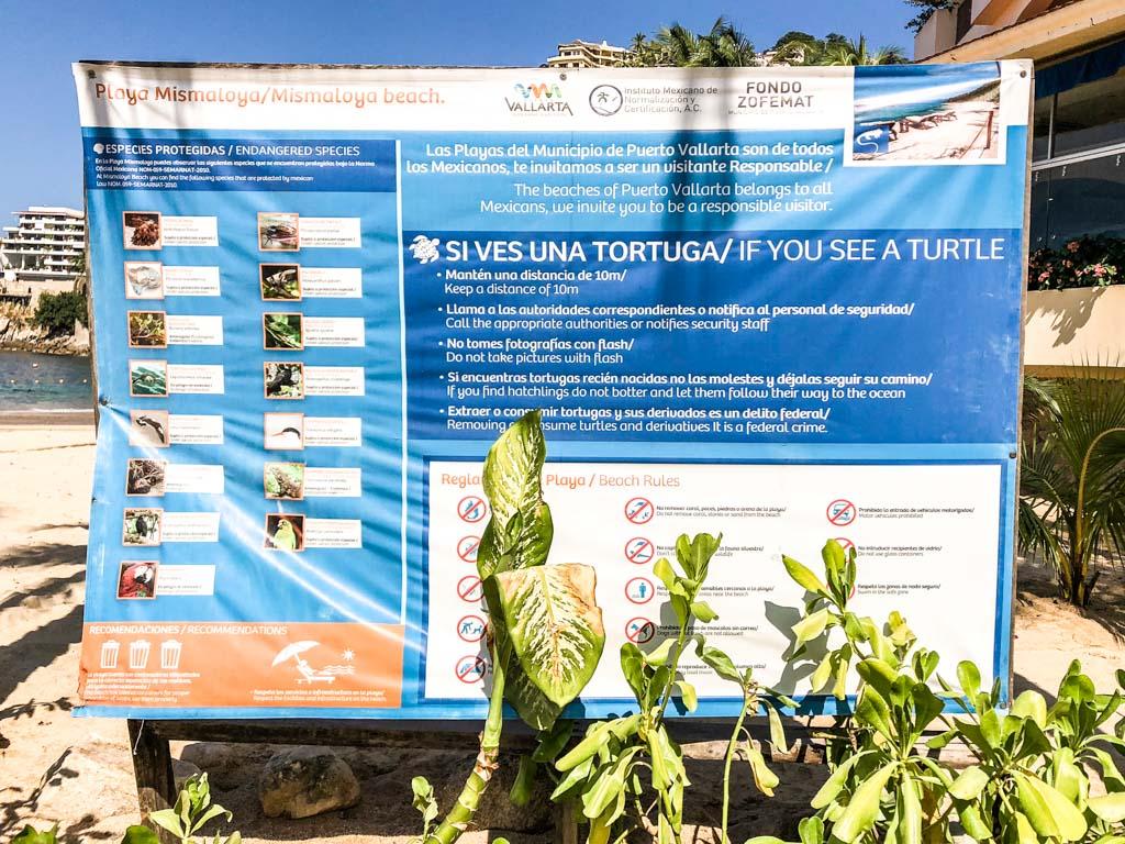 playa mismaloya sign
