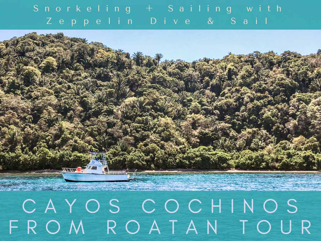 cayos cochinos from roatan tour header