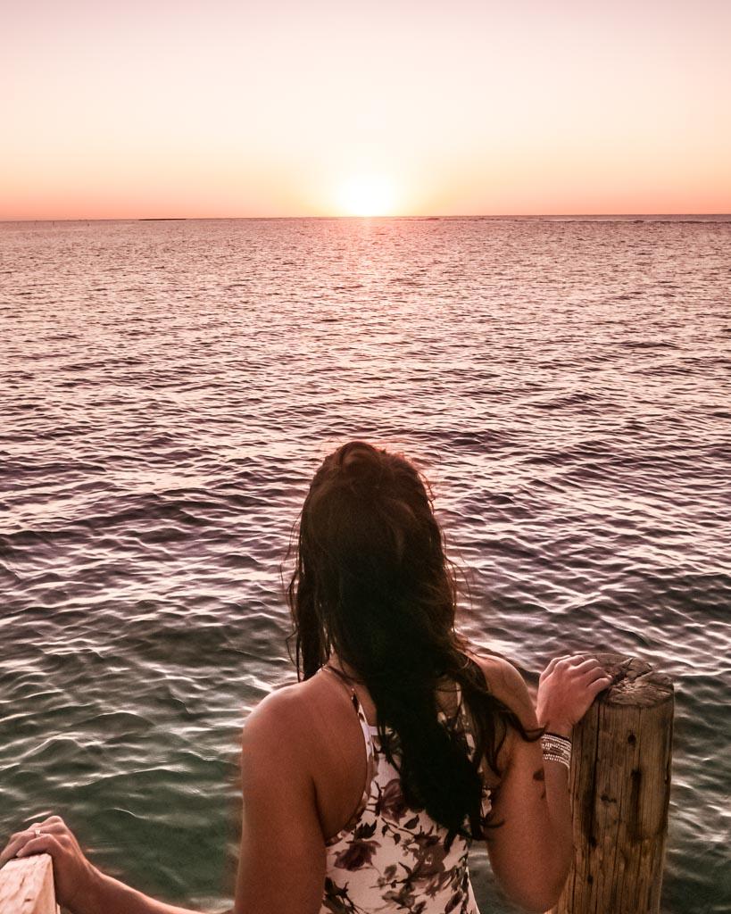 roatan honduras sunset water