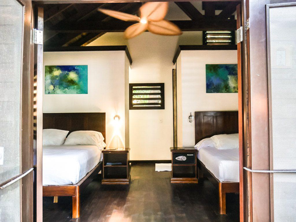 roatan hotel room from door
