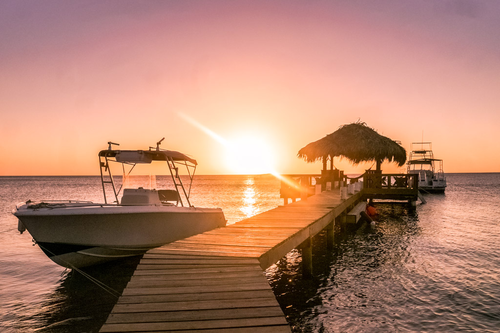 west bay roatan hotel sunset
