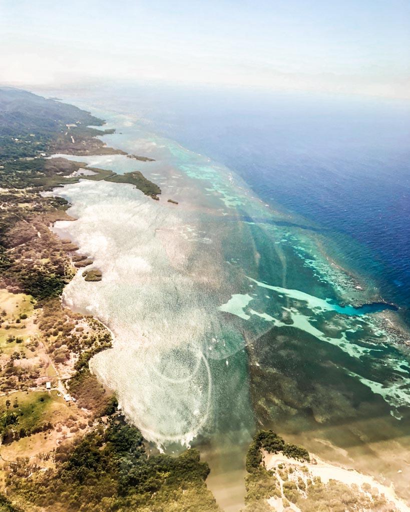 roatan travel guide aerial view