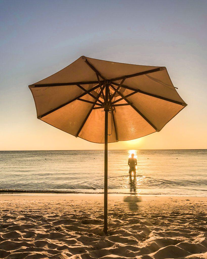 west bay beach sunset roatan honduras