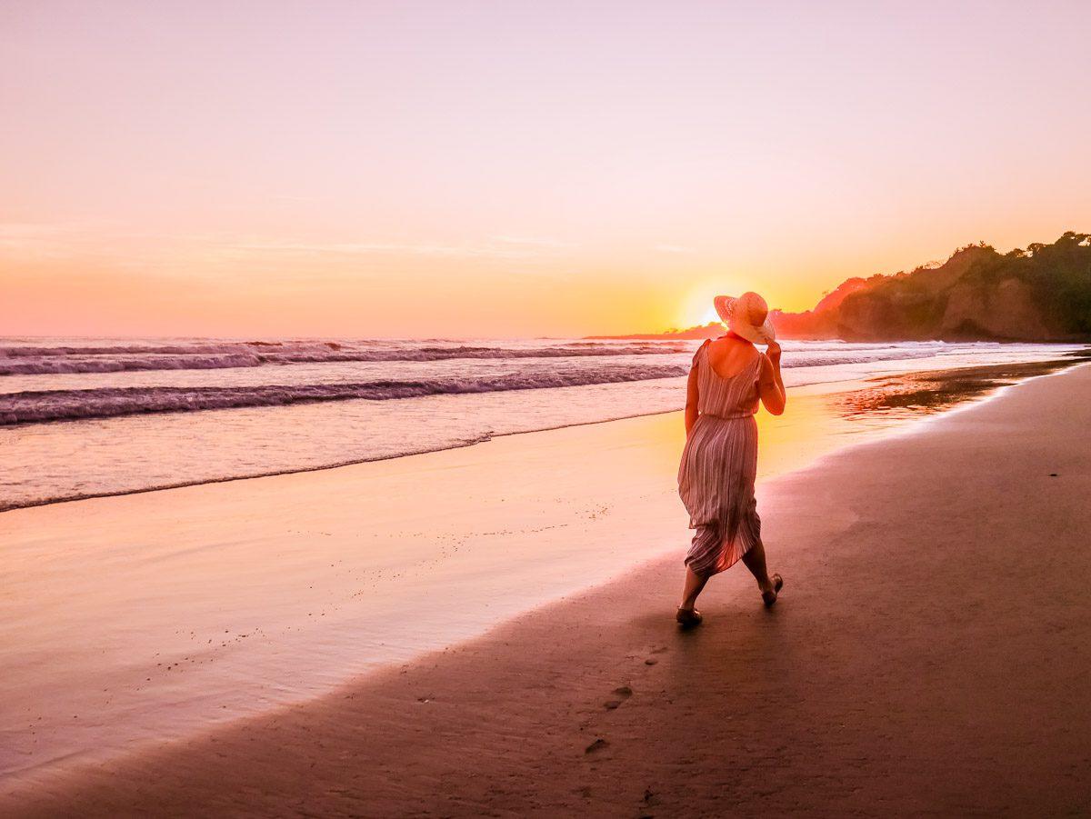 el salvador beach punta mango sunset