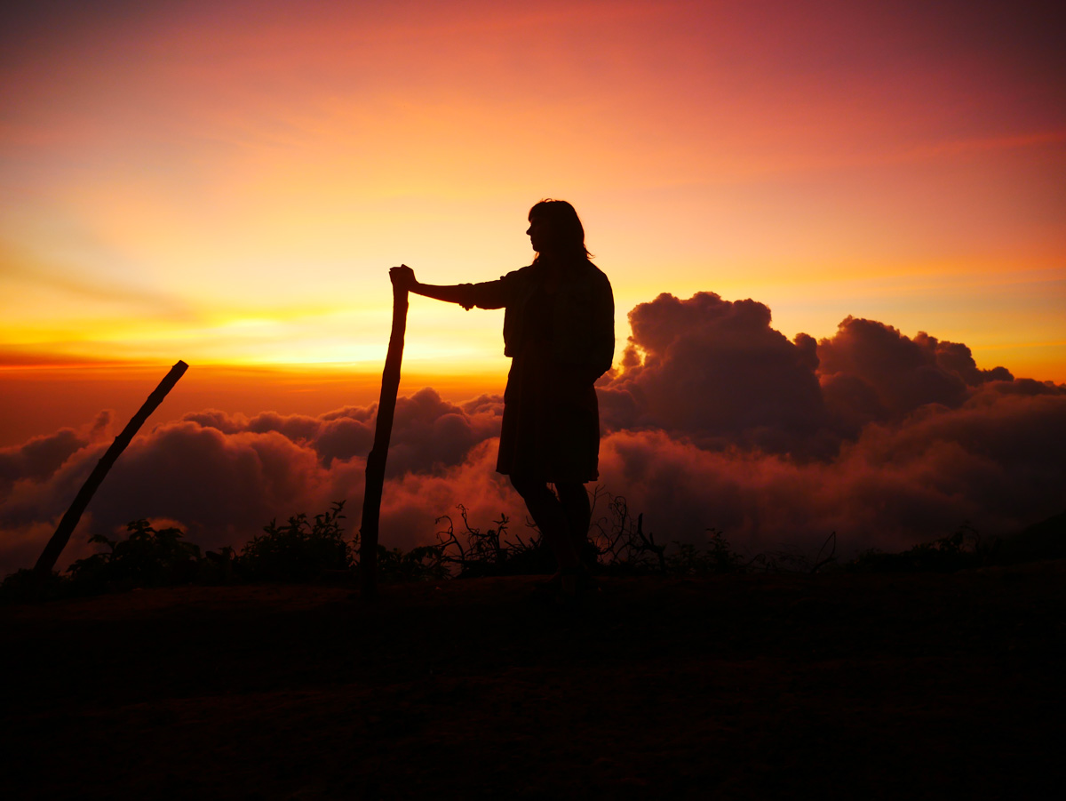 el salvador travel sunset at cerro verde