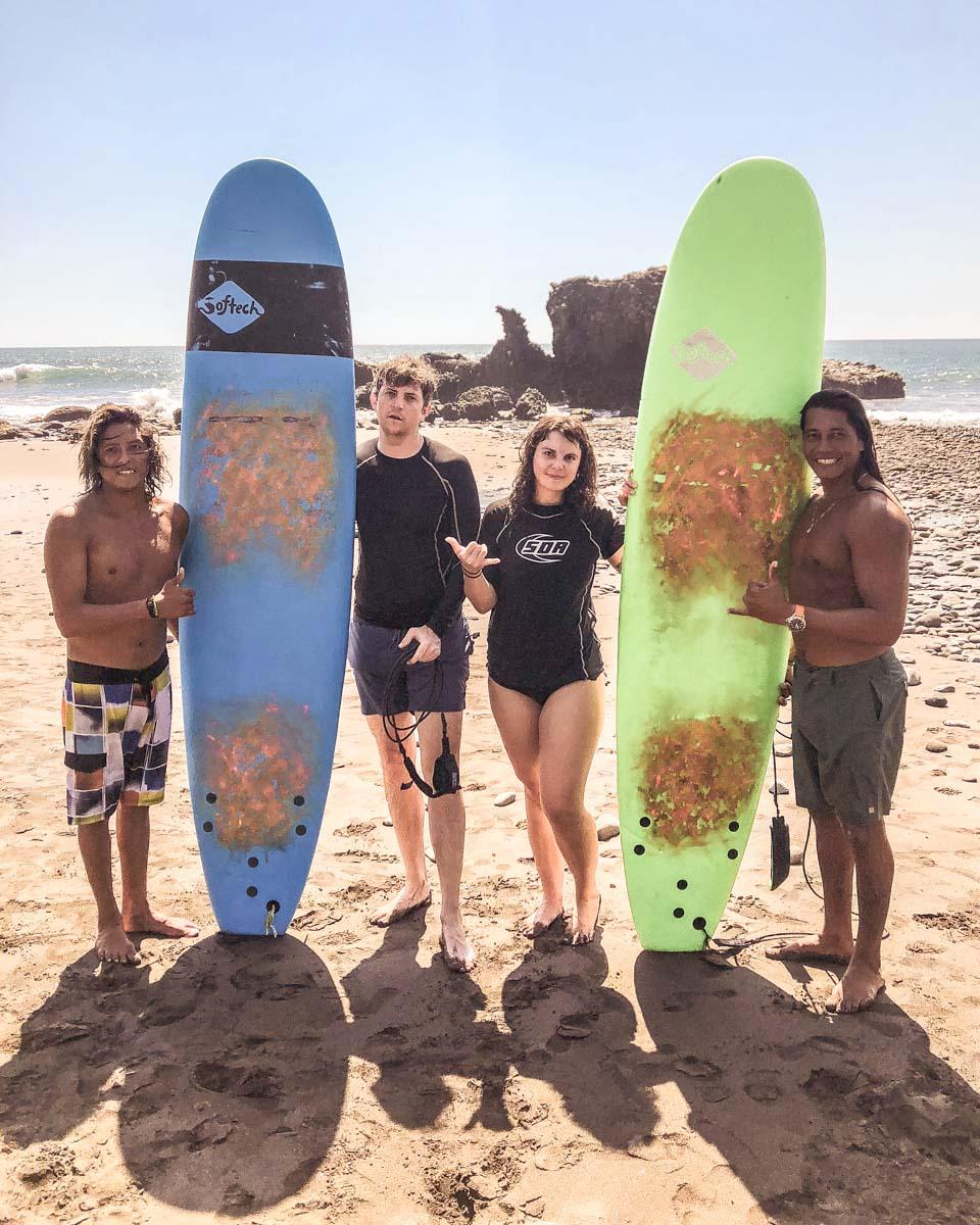el salvador travel surfing el tunco