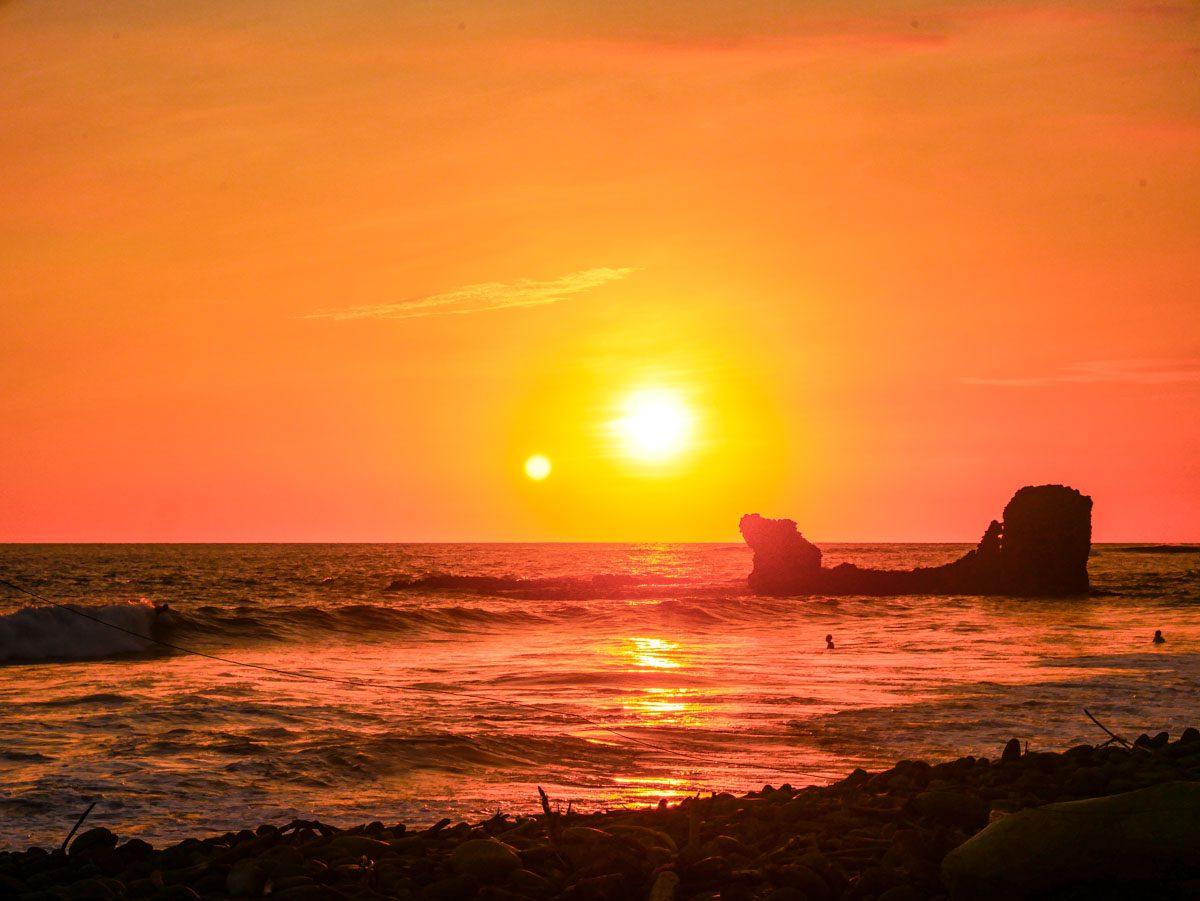 el tunco sunset el salvador