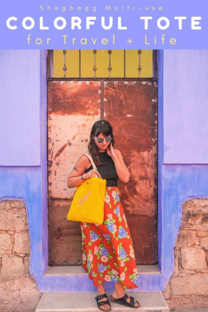shagbagg travel colorful tote pinterest 2LR