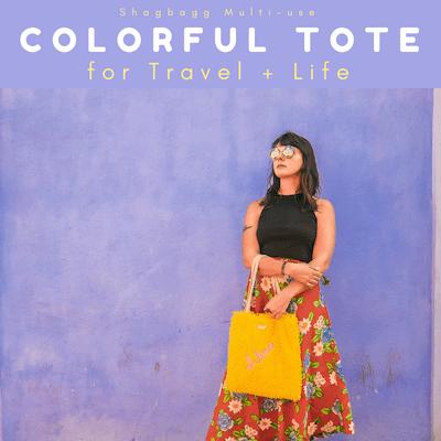 shagbagg travel colorful tote thumb