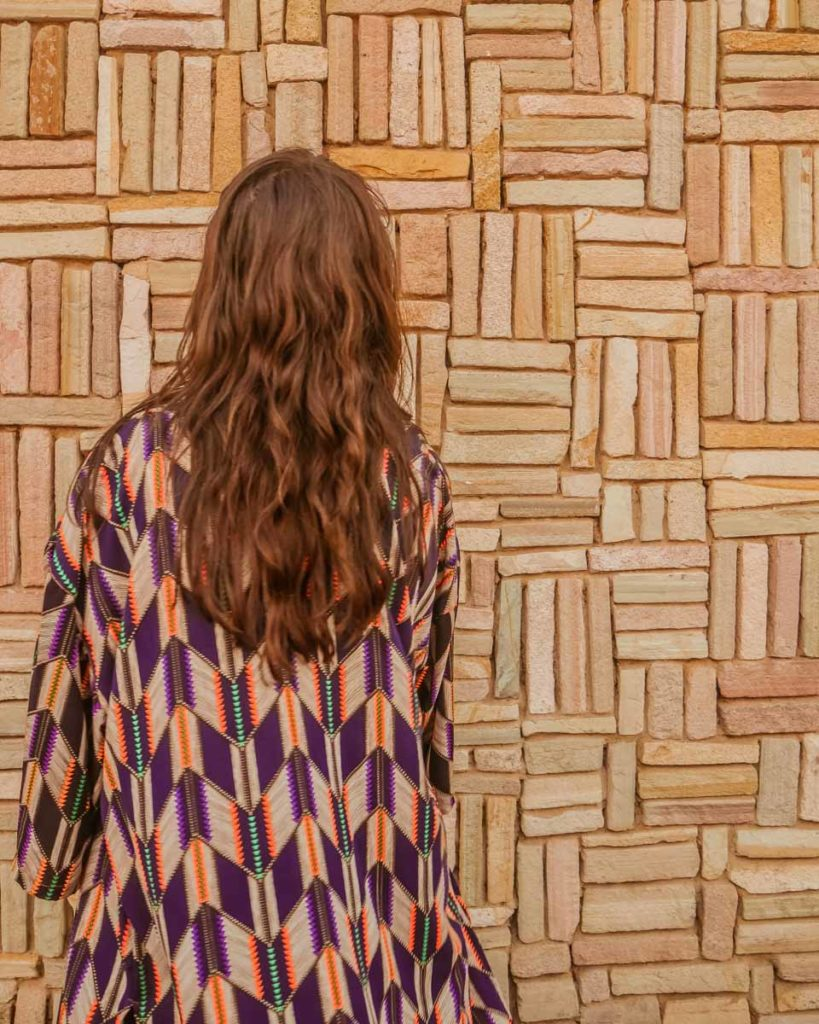 back of aura kimono light travel jacket