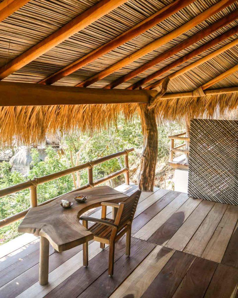 balcony view zazil retreat hotel in san agustinillo