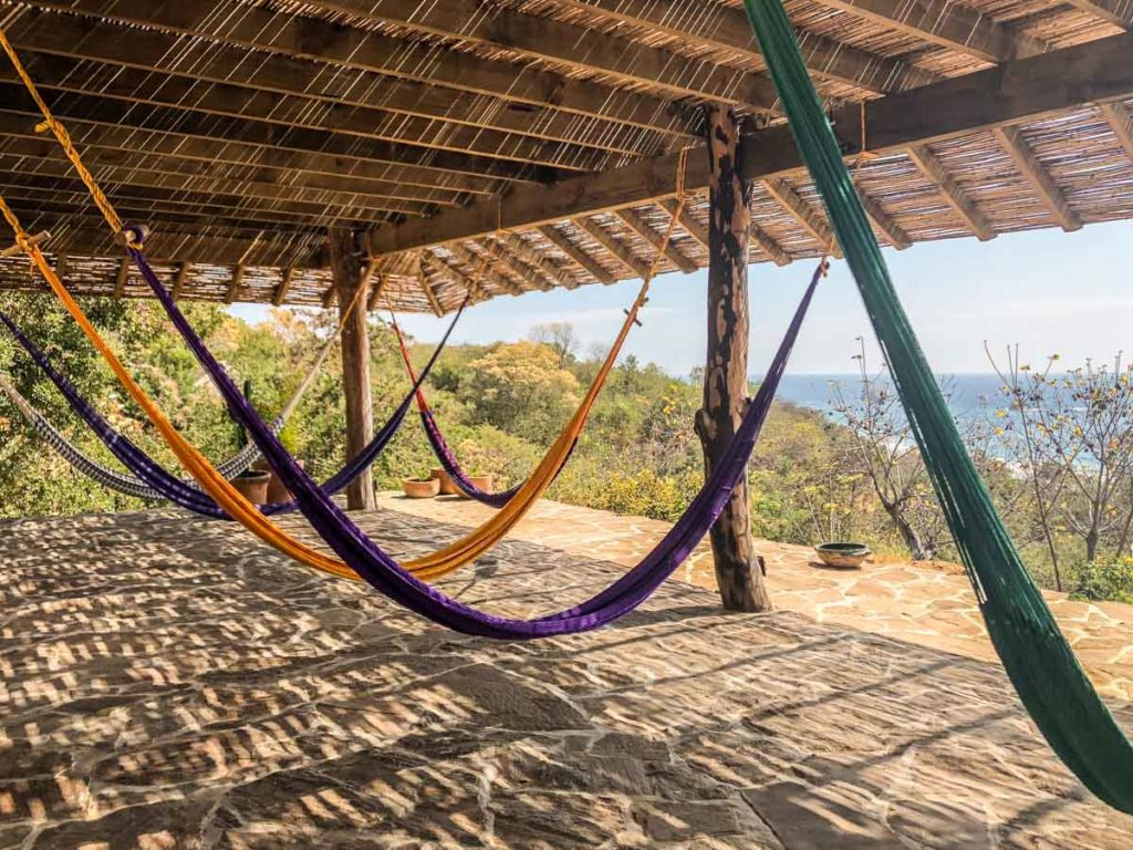 hammock common area san agustinillo hotel