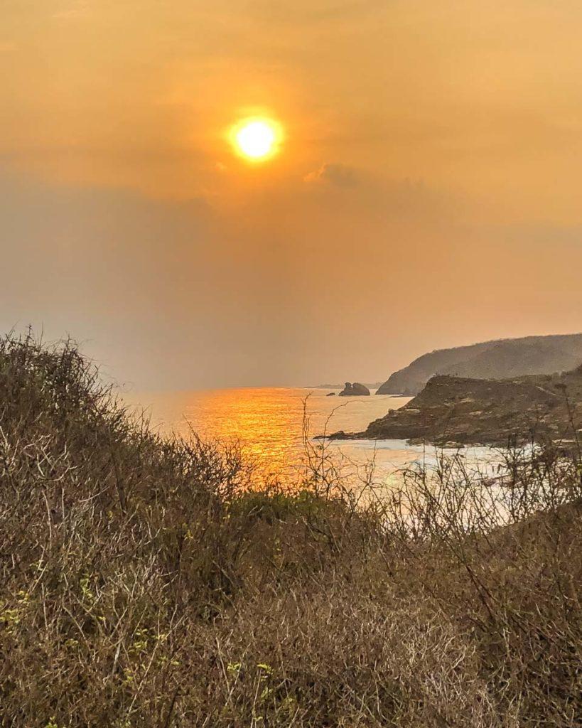 punta cometa sunset mazunte